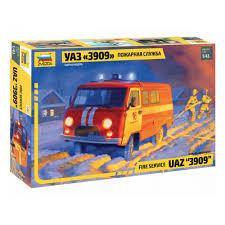 <b>Сборная модель ZVEZDA</b> 43001 <b>УАЗ</b> «3909» Пожарная служба ...