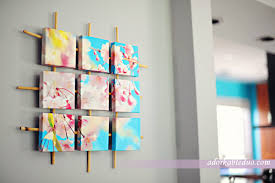 diy sectioned canvas wall art decor adorkableduo