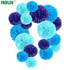 Tissue Paper Pom Poms Flower Balls Fanlus 6inch 1piece Pompon Tissue Paper Pom Poms Flower Balls For Wedding Room Decoration Party Supplies Diy Craft Paper Flower C18122201
