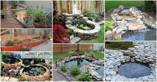 Small Picture Make Backyard Pond Interior Design Ideas