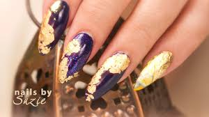 Gold Foil Nail Art - YouTube