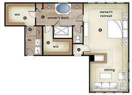 master bedroom with sitting area floor plan. B. Bedroom With Adjacent Sitting Area Has A Fireplace Between The Spaces. C. Large Master Bath Separate Vanities And Oversize Shower Floor Plan M
