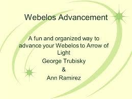 Webelos Attendance Chart Webelos Advancement A Fun And Organized Way To Advance Your