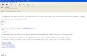 see screenshot of email