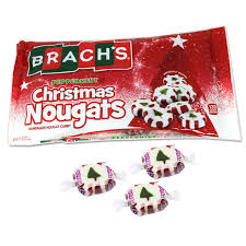 I have always loved their christmas nougats: Brachs Christmas Candy Peppermint Nougats 13oz Blaircandy Com