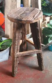 recycled wood bar stool