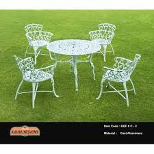 antique white cast iron outdoor chair set
