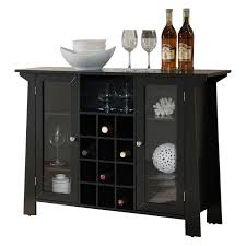 wine rack console table. Black Wood Wine Rack Sideboard Buffet Display Console Table With Glass Cabinet Storage Doors \u0026 Shelf