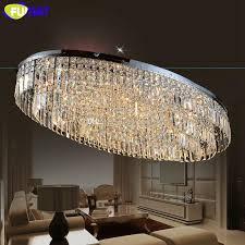 fumat k9 crystal chandelier led living room dining room oval design modern lamp hotel decor indoor lighting re chandelier modern chandelier lighting