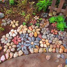 garden decoration with stones home
