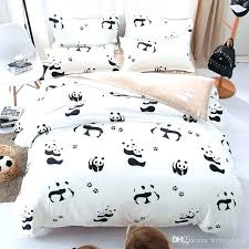 black and white kids bedding panda crib bedding cartoon panda bedding set black white duvet cover bed set single double queen home decor s nyc