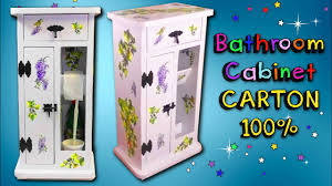 How To Make A Bathroom Cabinet Using Cardboard Inexpensive Decorating Ideas Mr Diy