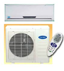 carrier air conditioner. carrier 42luv026k / 38luv026k 9,000 btu heat \u0026 cool split air conditioner for 220 volts