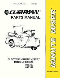 parts manuals vintage golf cart parts inc 1967 Minute Miser Cushman Wiring Diagram pu33 250 parts manual, minute miser, '77 '95 Cushman Minute Miser Repair Manual