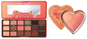 too faced makeup collection for summer 2016 sweet peach eye shadows and blush