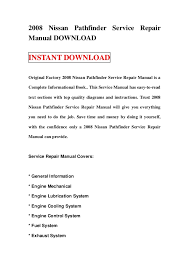 2008 nissan pathfinder wiring diagram 2008 image 2008 nissan pathfinder service repair manual on 2008 nissan pathfinder wiring diagram