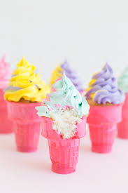 rainbow cupcakes in ice cream cones. Brilliant Cupcakes How To Make Colorful Ice Cream Cone Cupcakes In Rainbow Cones N