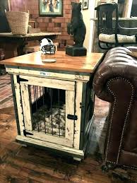 wooden dog crate furniture. End Table Pet Crates Wooden Dog Crate Handcrafted . Furniture N