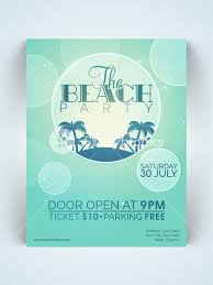 stylish page creative stylish one page flyer banner or template for beach party