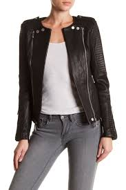 bcbgmaxazria blake genuine leather jacket nordstrom rack