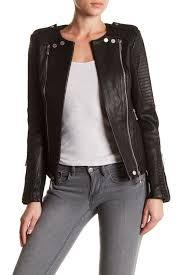 image of bcbgmaxazria blake genuine leather jacket