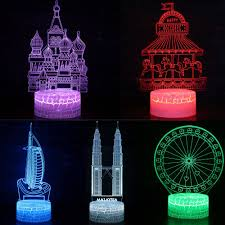 Fairy Castle Night Light Us 13 38 43 Off 7 Colors Fairytale Castle Mosque Led 3d Illusion Visual Night Light Bedroom Desk Decoration Light Novelty Table Lamp Kids Gift In