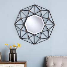 Geometric Wall Mirror southern enterprises firestone 26.25 in. h x 26.25  in. w geometric