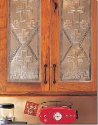 Small Picture Beautiful pressed tin southwestern cabinets from Taos Tin Works