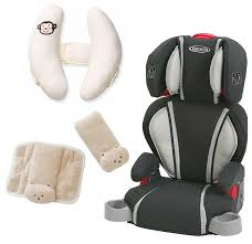 graco highback turbobooster car seat with cushioned strap covers head support glacier com