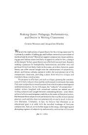 Risking Queer: Pedagogy, Performativity, and Desire in Writing Classrooms