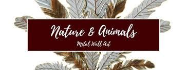 nature animals metal wall art