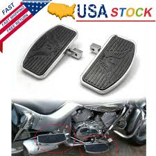Motorcycle <b>Rear</b> Passenger Foot Peg Footboards Floorboards For ...