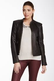 image of andrew marc morgan leather jacket