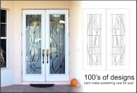 etched glass doors etched glass etched glass door panels for