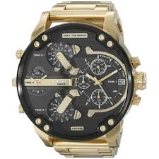 diesel watches overstock com the best prices on designer mens diesel men s dz7333 mr daddy 2 0 chronograph 4 time zones gold tone