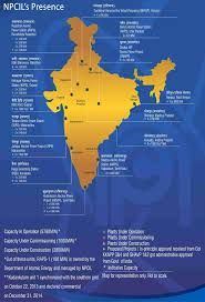 npcil s presence nuclear power corporation of limited home map