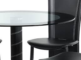 dining table 4 chairs seconique cameo 100cm glass round dining table and 4 chairs set