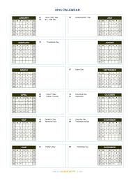 2015 Calendar Blank Printable Calendar Template In Pdf