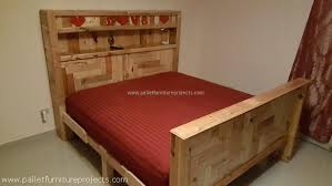 king size pallet bed pallet bed plans pallet furniture projects recycled pallet