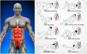 Six Pack Abs Workout Chart Fastest Six Pack Abs Exercise Routines Abs Workout