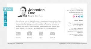 Website Resume Template 41 Html5 Resume Templates Free Samples Examples  Format Template