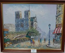 burnett artist oil painting and ine burnett notre dame paris oil