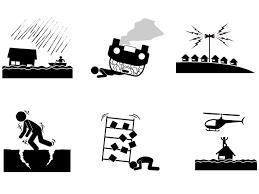 災害事故関係のイラストフリー素材