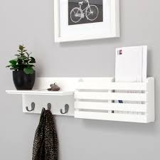 white wood wall organizer white color modern wood wall mail organizer and key holder plus