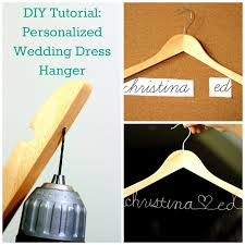 diy tutorial personalized wedding dress hanger