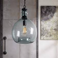 Blue Glass Pendant Light Fixture Casamotion Wavy Hammered Hand Blown Glass Pendant Light 1 Hanging Light 13 Diam 19 9h Gray Blue