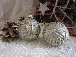 Christbaumschmuck Antik Gold Mit Glitzer Kugel Ornamente