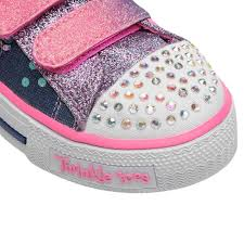 sketchers twinkle toe boots. skechers; /; twinkle toes shuffles child girls trainers. 360 view play video zoom sketchers toe boots