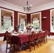 Red Dining Room Curtains - Dining room curtain designs