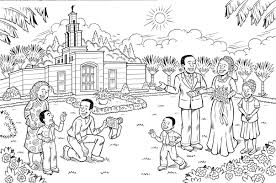 Small Picture Simple Ideas Lds Primary Coloring Pages Temple Marriage Coloring